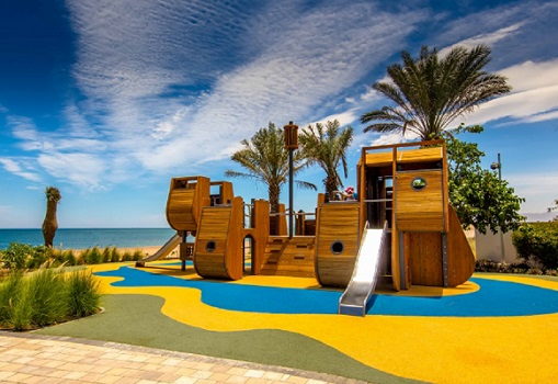 picture of a playground with PAGplay EPDM safety flooring in Muscat