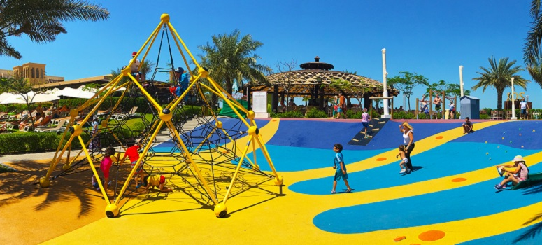 picture of a Playground with PAGplay iEPDM safety flooring in Muscat